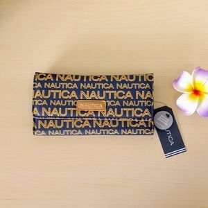 NAUTICA Womens Wallet Clutch Organizer Blue NWT